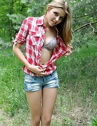 The Good Picnic In The Deep Forest May Become Better If She Starts To Behave Naughty. It Happened, L
