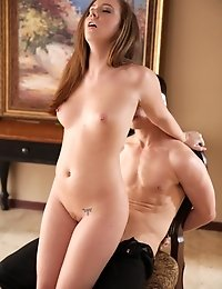 Sultry Maddy Oreilly Restrains Her Man And Licks And Fucks His Hard Dick Until They Are Both Crazy W
