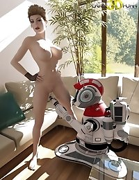 Magnificent Babe Gets Sexual with Her Robot Assistant!