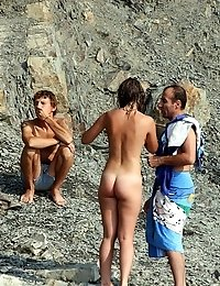 Holiday swingers at the nude beach