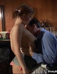 Her Pussy Becomes Wetter When This Guy Is Working There With His Skillful Tongue.
