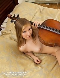 The Art Of Music Is No Stranger To This Amazing Blonde, Because She Loves To Lay Down And Rub Her In