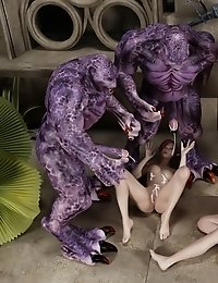 Huge cumshots from intergalactic monster cocks