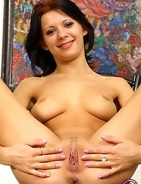Brunette Angel Shows Her Sinful Sexuality