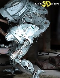 Hot dystopian babe with mohawk fucks her robot protector