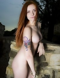 Nightlife May Introduce New Unusual Friends. Like This Sweet Fresh Babe With Amazing Tattoo. Big Boo
